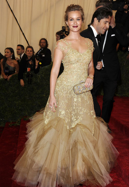 Leighton Meester in Marchesa