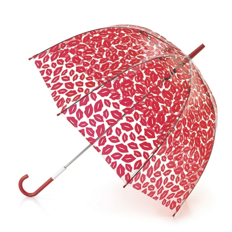 Lulu Guinness Birdcage Red Lips Umbrella